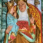 The child Mary held by her mother Anna