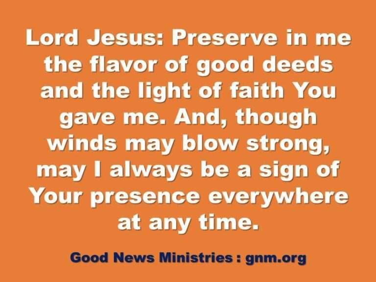 Jesus, preserve me - a daily Prayer Moment by Good News Ministries